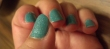 featured image teal sparkle nails
